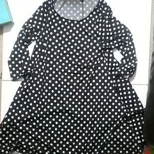 Nina Leonard polka dot swing dress